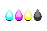 Ink Liquid Drop, CMYK
