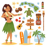 Hawaii vector set.