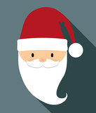 Santa cartoon icon. Merry Christmas design. vector graphic