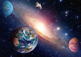 Space planet galaxy milky way Earth Mars universe astronomy solar system astrology. Elements of this image furnished by NASA. - Fine Art prints