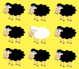 A white sheep between many black sheep: a honest between many dishonest