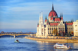 The Parliament building on Danube river, Budapest, Hungary - 113839686