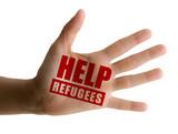 Aiuto ai rifugiati, aiuto ai migranti, profughi, mano aperta