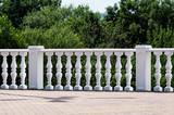 Decorative stone railing.
