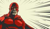 Comic superhero in r...