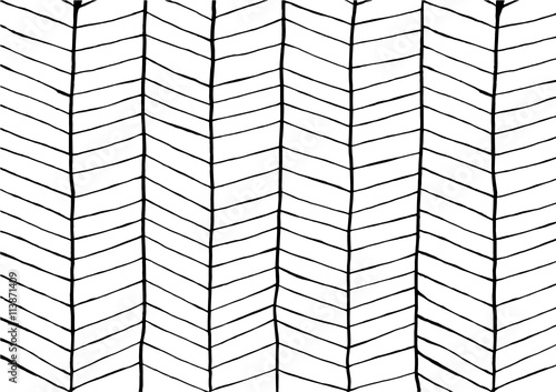 Abstract line zigzag patterns background. Black and white design. - 113871409