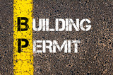 Concept image of Business Acronym BP Building Permit