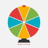 Wheel of Fortune, Lucky Icon. Vector Illustration - 113874203