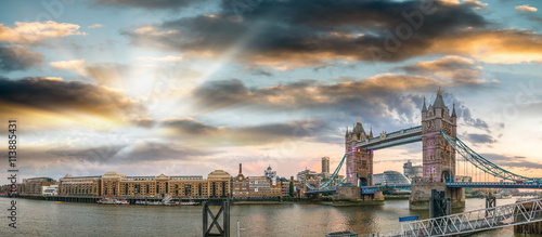 The Tower Bridge magnificence in London
