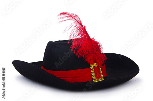 Poster Pirate hat isolated on white