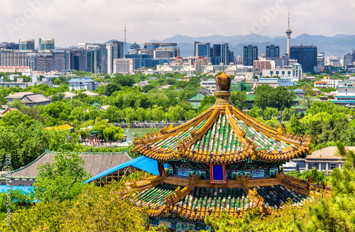 Foto op Canvas Peking City view of Beijing from Jingshan park