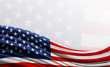 American flag background with empty space for text - 113890844