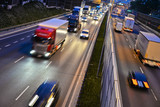 Six lane controlled-access highway in Poland by night - 113897283