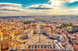 Quadro Saint Peter's Square in Vatican and aerial view of Rome