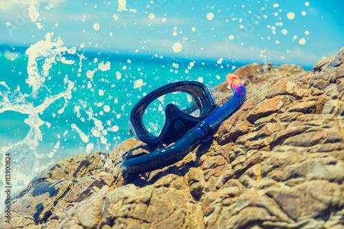 Zdjęcia na płótnie, fototapety, obrazy : photo of the diving mask