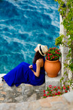 young woman in Greece - 113901603