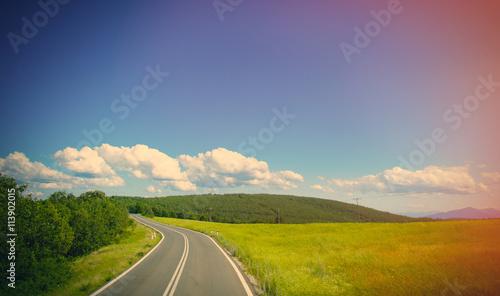 Zdjęcia na płótnie, fototapety, obrazy : country side road