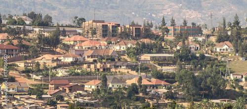 Fototapeta Houses on the hills of Kigali
