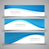 Fototapety Set of banner templates. modern abstract design.