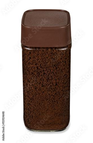 Leinwandbild Motiv Kaffee Instant Pulver