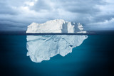 Iceberg Mostly Underwater Floating in Ocean - 113924835
