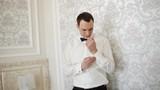 Beautiful fashionable groom button cufflinks