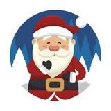 santa claus isolated icon design, vector illustration  graphic