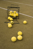 Close up view of balls  on the tennis court
