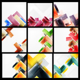 Set of arrow abstract geometric backgrounds