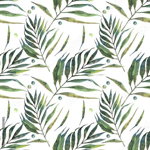 leaves, watercolor, Pattern, postcard - 113950485