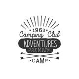 Camping Club Adventures Vintage Emblem