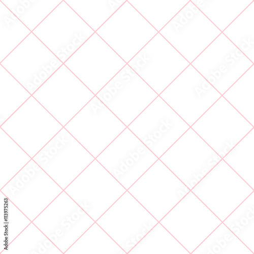 Pink Grid White Diamond Background Vector Illustration - 113975263