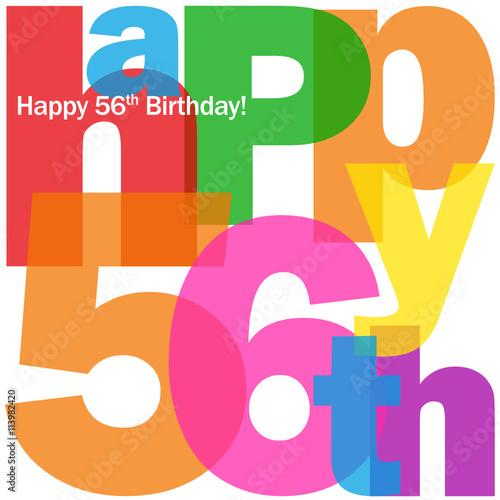 HAPPY 56th BIRTHDAY Vector Card