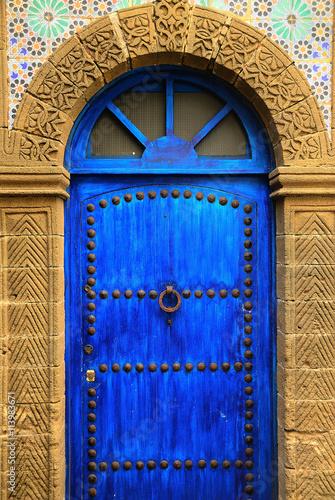 Fotobehang Marokko Puerta azul