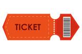 orange movie ticket , vector illustration