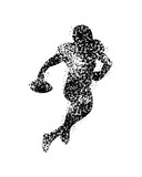 football players in silhouette vectors