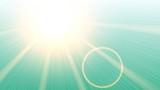 light flare on green gradient