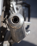 beautiful detail of the motorcycle. exhaust pipe