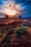 Monument Valley Cloudy Sunrise Vertical