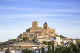 Sta Maria church and the ancient castle in Alcaudete, Jaén, Spain