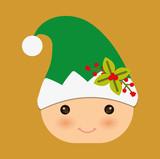 elf cartoon icon. Merry Christmas. Vector graphic