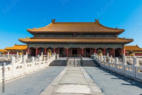 Salle de l'Harmonie Suprême, Cité Interdite à Pékin, en Chine Poster