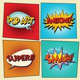 Set of retro comic bubbles pop art phrases - 114041494
