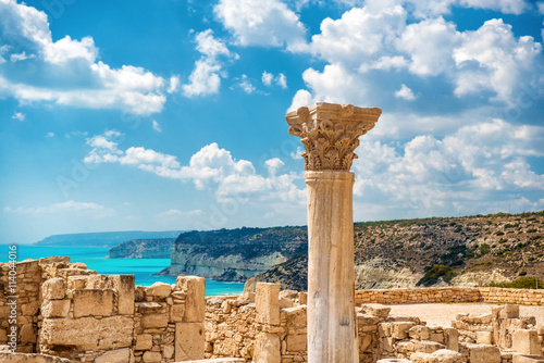 Foto op Canvas Cyprus ?uins of ancient Kourion. Limassol District. Cyprus