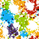 Seamless pattern with paint blobs