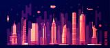 New York city skyline vector flat style - 114104059