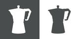 Icono plano silueta cafetera