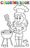 Coloring book barbeque theme 2