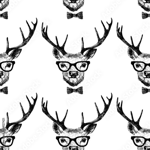 seamless-with-hand-drawn-dressed-up-deer