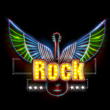 Neon Light signboard for Rock Banner